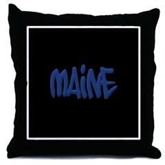 Maine in Graffiti Style Letters Throw Pillow