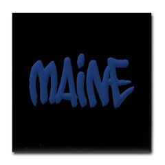 Maine in Graffiti Style Letters Tile Coaster