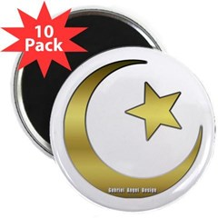 """Gold Star and Crescent 2.25"""" Magnet (10 pack)"""