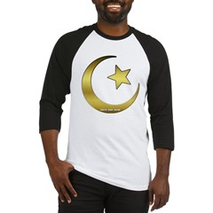 Gold Star and Crescent Baseball Jersey T-Shirt