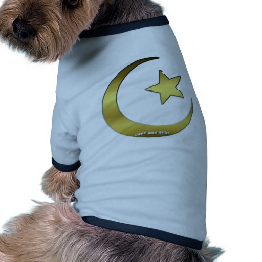 Gold Star and Crescent Doggie Ringer T-Shirt