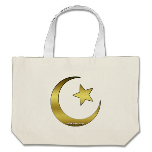Gold Star and Crescent Jumbo Tote