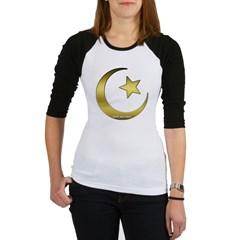 Gold Star and Crescent Junior Raglan T-shirt