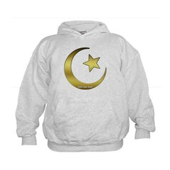 Gold Star and Crescent Kids Sweatshirt by Hanes