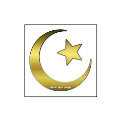 Gold Star and Crescent Large Posters
