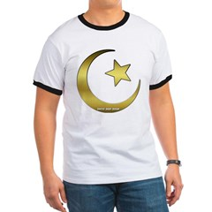 Gold Star and Crescent Ringer T-Shirt