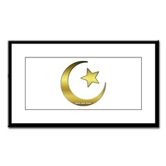 Gold Star and Crescent Small Framed Print