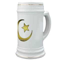 Gold Star and Crescent Stein