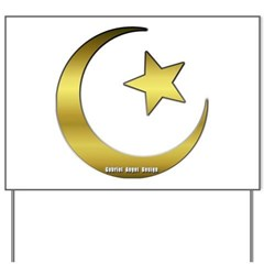 Gold Star and Crescent Yard Sign