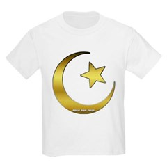 Gold Star and Crescent Youth T-Shirt by Hanes