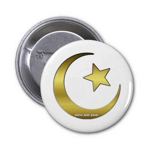 Golden Star and Crescent Buttons