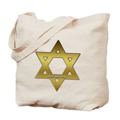 Gold Star of David Canvas Tote Bag