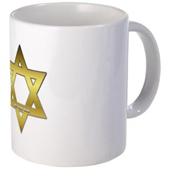 Gold Star of David Coffee Mug