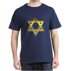 Gold Star of David Dark T-shirt