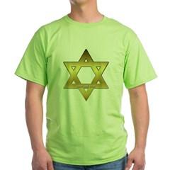 Gold Star of David Green T-Shirt