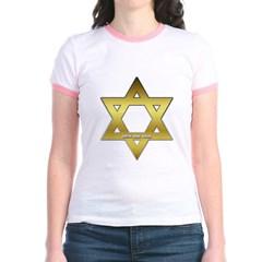 Gold Star of David Junior Ringer T-Shirt