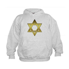 Gold Star of David Kids Sweatshirt by Hanes