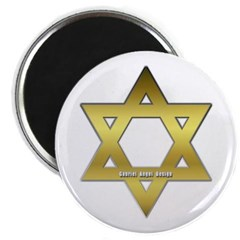 Gold Star of David Magnet
