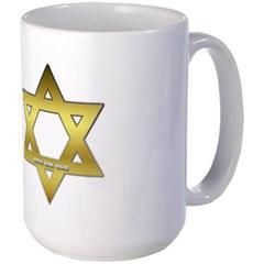 Gold Star of David Mug