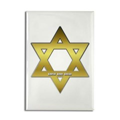 Gold Star of David Rectangle Magnet