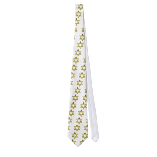 Gold Star of David Tie