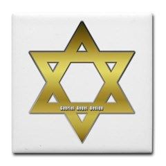 Gold Star of David Tile Coaster