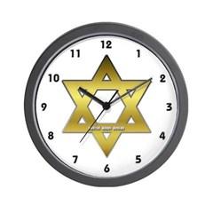 Gold Star of David Wall Clock