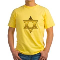 Gold Star of David Yellow T-Shirt