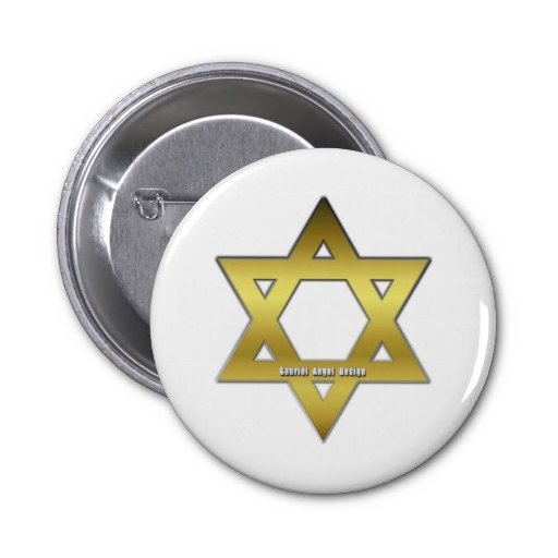 Golden Star of David Buttons