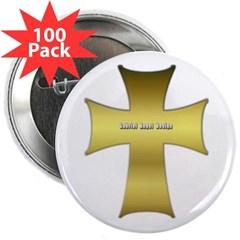"""Golden Cross 2.25"""" Button (100 pack)"""