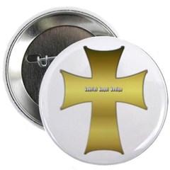 """Golden Cross 2.25"""" Button"""