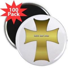 """Golden Cross 2.25"""" Magnet (100 pack)"""