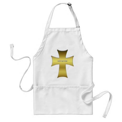 Golden Cross Adult Apron