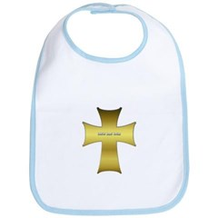 Golden Cross Baby Bib