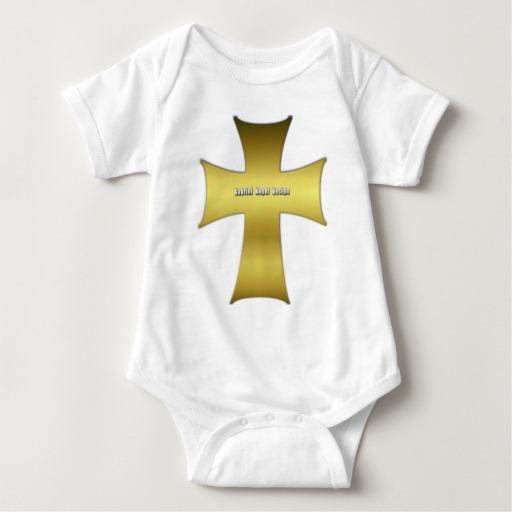 Golden Cross Baby Jersey Bodysuit