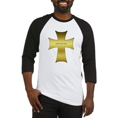 Golden Cross Baseball Jersey T-Shirt