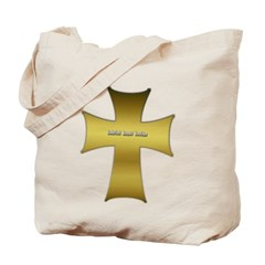 Golden Cross Canvas Tote Bag