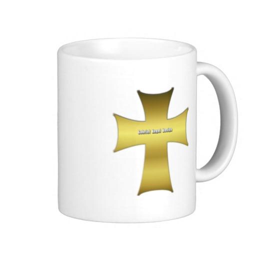 Golden Cross Classic White Mug
