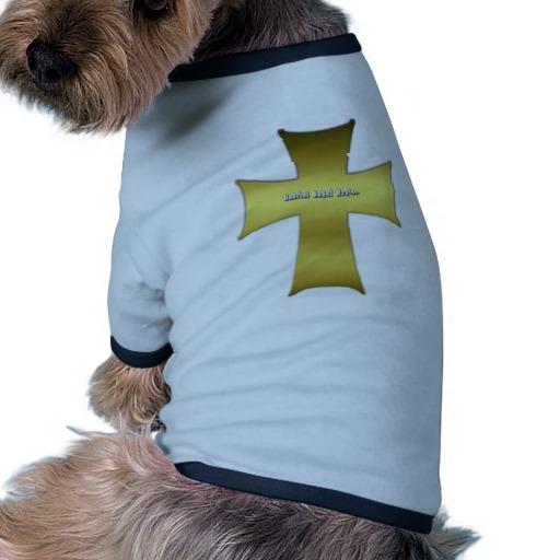 Golden Cross Doggie Ringer T-Shirt