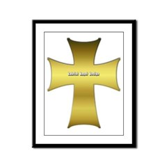 Golden Cross Framed Panel Print