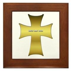 Golden Cross Framed Tile