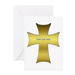 Golden Cross Greeting Card