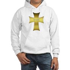 Golden Cross Hooded Sweatshirt