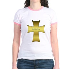 Golden Cross Junior Ringer T-Shirt