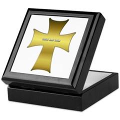 Golden Cross Keepsake Box