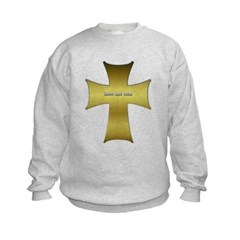 Golden Cross Kids Crewneck Sweatshirt by Hanes