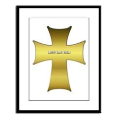 Golden Cross Large Framed Print