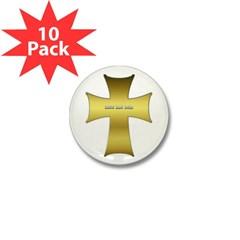 Golden Cross Mini Button (10 pack)