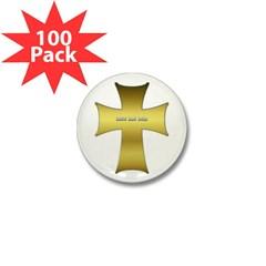 Golden Cross Mini Button (100 pack)