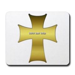 Golden Cross Mousepad